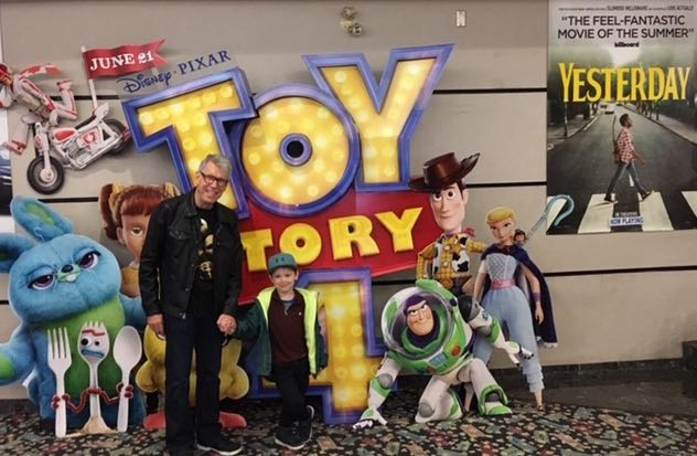 Rob and Colin at Toy Story 4